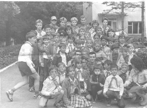 Фото с пограничниками после Зарницы